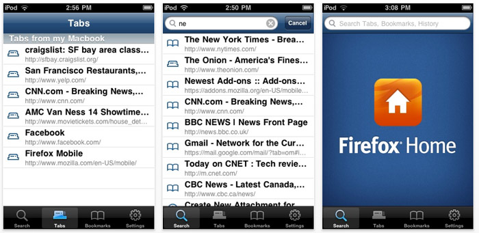 firefox-home Firefox Home for iPhone is not complete, but a good start