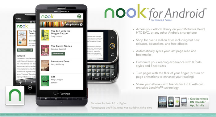 nook-android-bn  Android phones get Barnes & Noble nook app: Lend ebooks to friends