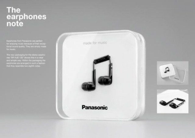 panasonic-earphones-note Panasonic Earphones draw attention for having a nice package