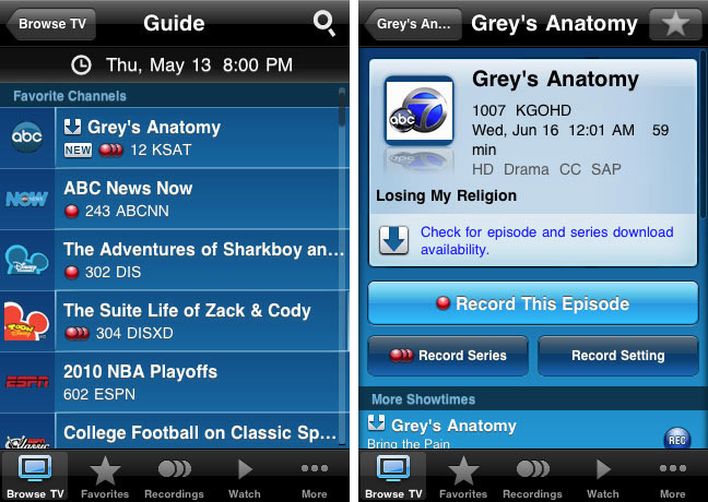 att-uverse Watch recorded TV on your iPhone with AT&T's free U-verse Mobile app