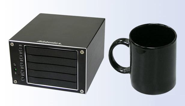 """addonics-compact-raid Addonics' five drive redundant RAID enclosure is ultra-compact, uses 2.5"""" drives"""
