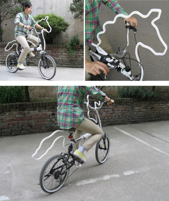 horsey-02 Unicorn bicycle mod gives me that 'warm and fuzzy' feeling
