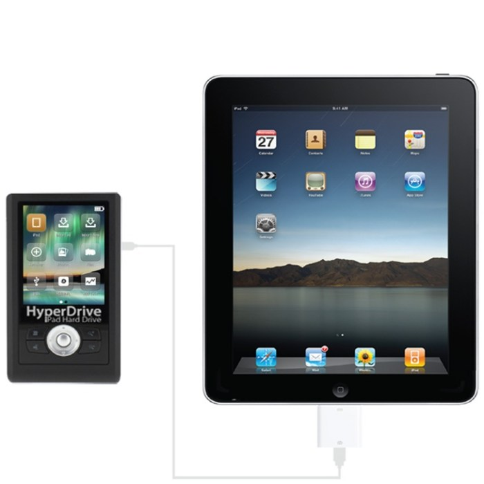 hyperdrive-ipad  HyperDrive adds card reader, hard drive to Apple iPad
