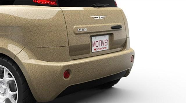 kestrel-motive-ev Motive Industries' Cannabis Kestrel cars rear end exposed