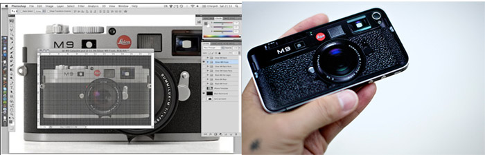 leica-m9-iphone-4-02 Leica M9 skin not official, turns iPhone 4 into a retro shooter