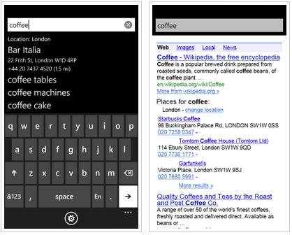 Google-Search-app Google comes to Winphone 7 as an app, not an option