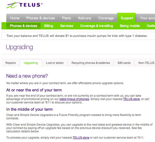 telus-upgrades Early Device Upgrade Fee (EDUF) introduced at Telus