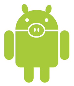 android-guy-pig  Android smartphones hogging up all the bandwidth