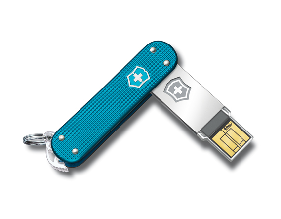 Victorinox-Slim-Blue  Victorinox Swiss Army flash drives in flight-friendly versions too