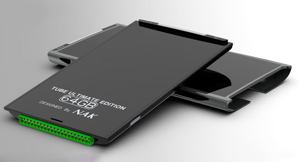 """htc_tube41 Concept """"tube"""" phone swaps its guts with cartridges"""