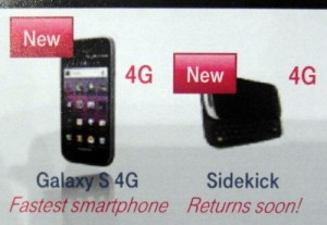 sidekick4g T-Mobile to release Samsung S 4G and Sidekick 4G soon