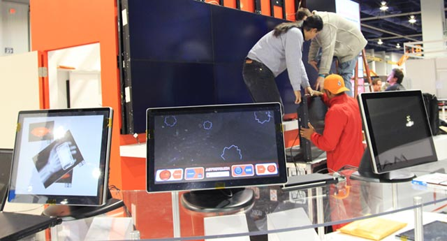 touchrev-11 Astrotouch asteroids game shown off with Touch Revolution TRū Touch Monitor