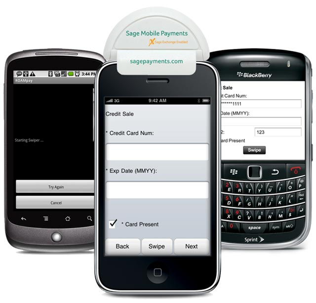 sage-payments Sage Mobile Payments adds credit card processing to phones and tablets