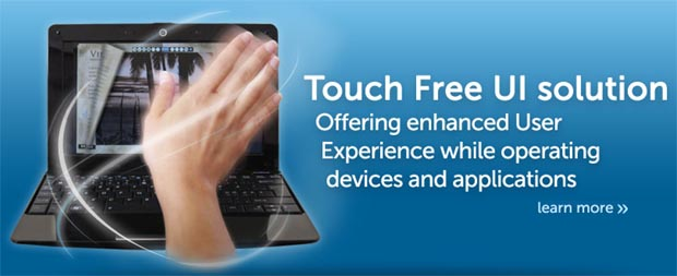 touchfree Touch-free gestures for tablet devices devised by eyeSight