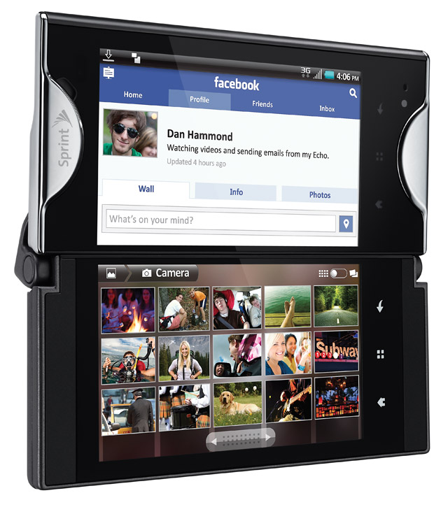 Echo_3-4_open_w-screen2 Preorders Start for Dual-Screen Kyocera Echo Android Smartphone from Sprint