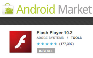 flash-10.2 Google Android Now Supports Adobe Flash 10.2