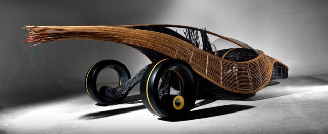 biodegradablecar-1-640x262 Biodegradable Phoenix Concept Car Made of Bamboo and Rattan