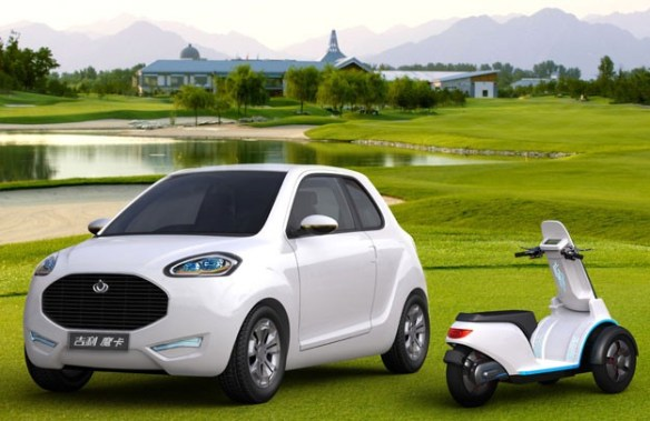 geely-mccar-combines-car-and-motorcycle-1  Can't Decide Between Car or Scooter? Get the McCar from Geely