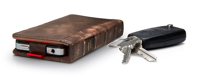 bookbook-iphone4-case BookBook case converts iPhone 4 into storied old tome