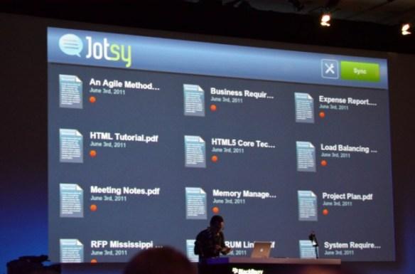 jotsy-02-640x422 Jotsy Document Annotator Unveiled At BlackBerry DevCon