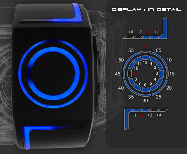 kisai_seven_blue_led_wristwatch Tokyoflash Kisai Seven Futuristic Watch Inspired By Tron
