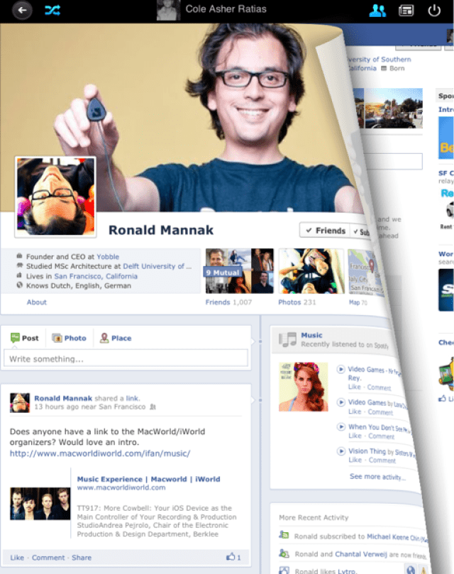 face1 Loytr Releases A New Timeline Facebook App For iPad