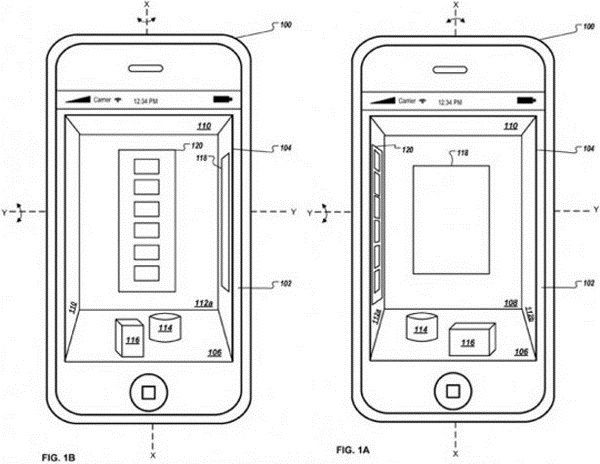 apple-ios-3d Apple Patent Reveals Possible iPhone 5 3D Gesture UI