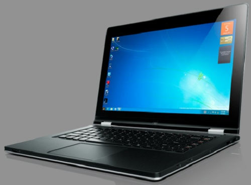 lenovo-yoga-ultrabook-mode Lenovo IdeaPad Yoga: Windows 8 Tablet And Ultrabook In One