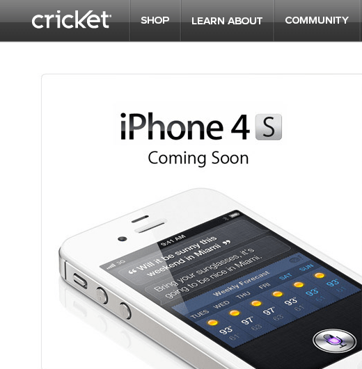 120531-cricket Cricket To Offer Prepaid iPhone 4S with $55 Unlimited Plan