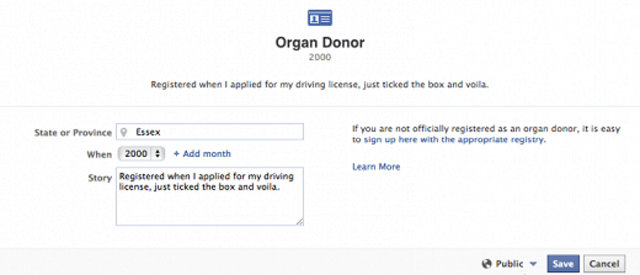 facebook-donor Facebook Going To Save Lives By Letting You Donate Organs (Video)