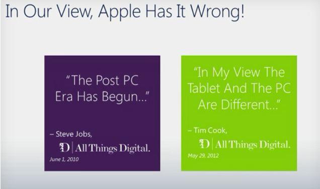 120712-ms Microsoft Gettin' Cocky: Scoffs at Post PC Era, We're In PC+ Era