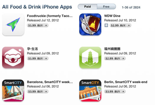 fooddrink Food And Drink Category Added To Apple's AppStore