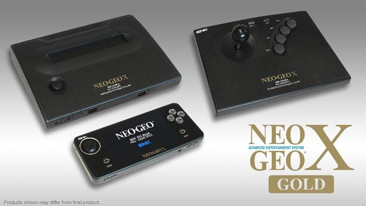 120813-neogeox NEOGEO X GOLD Portable Gamer Includes TV Dock and Arcade Stick