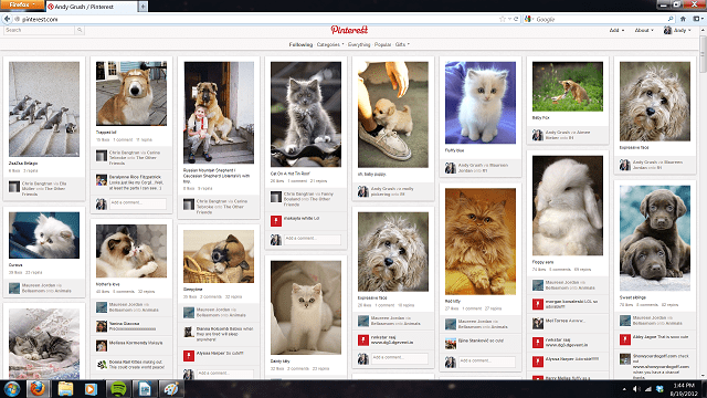 pinterestPC App Review: Pinterest (iPad & Android)