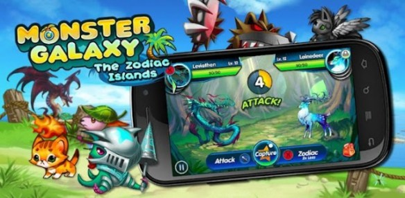 monstergalaxy-zodiacislands-640x313 App Review: Monster Galaxy for Android