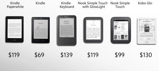 121122-ereader1 eReader Shootout: Amazon Kindles vs. Barnes & Noble Nooks vs. Kobo Glo