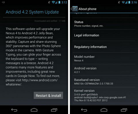 android-4-2-1 Android 4.2.1 Update arrives for Nexus Users Today