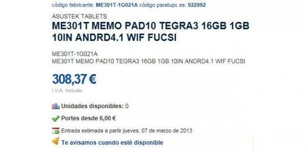 130104-asus1 Tegra3-Powered Asus ME301T MemoPad 10 Leaks Ahead of CES