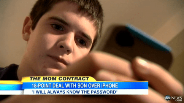 boy-with-phone-620x347 Teen Gets Set of Rules with His New iPhone