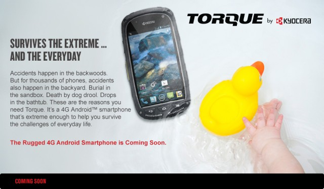 torue Kyocera Torque Coming to Spring Soon, Rugged and Tough