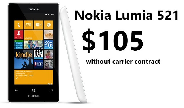 Lumia-521 T-Mobile Nokia Lumia 521 For $105