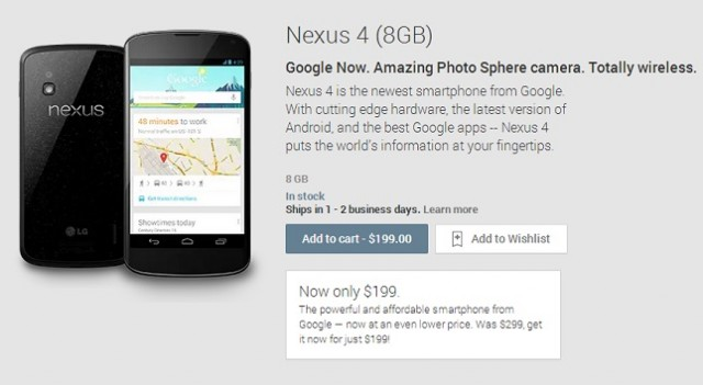 nexus-4-199-640x351 LG Nexus 4 Pricing Slashed Down, Now Just $199!