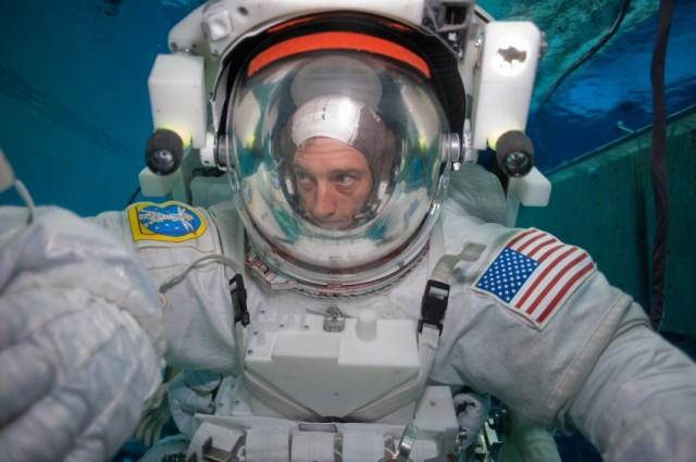 fisheye Spacewalk Training At NASA's Big Pool