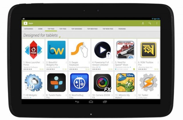 """131011-tablet-640x419 Google Play Store to Push Apps """"Designed for Tablets"""""""