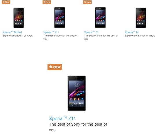 131111-xperia Sony Accidentally Leaks Xperia Z1s Smartphone