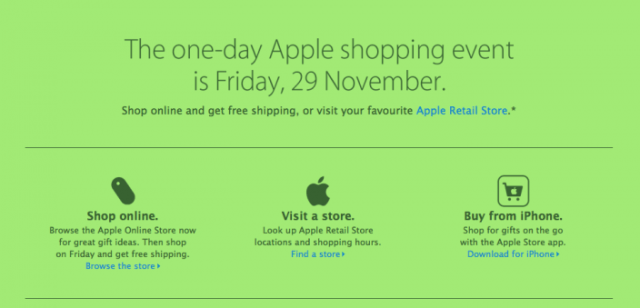 131125-apple-640x308 Apple Black Friday Deals Online Start at Midnight