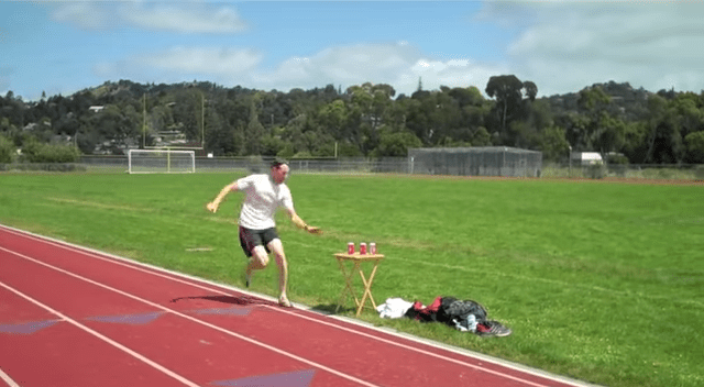 beer-mile-barrier Burp! Canadian Runner Breaks The Beer Mile Barrier… Burp (Video)