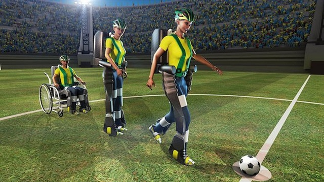 fifa-2014-mind-controlled-exoskeleton FIFA World Cup 2014 To Be Kicked Off By Paralyzed Teen (Video)