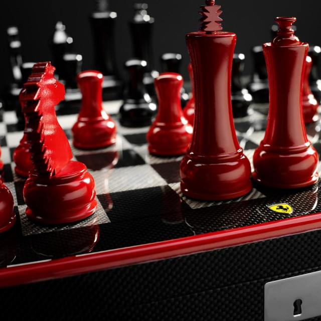 Ferrari-carbon-fiber-chess-set-2-640x640 Ferrari Carbon Fiber Handmade Chess Set Can Be Yours For $2,012