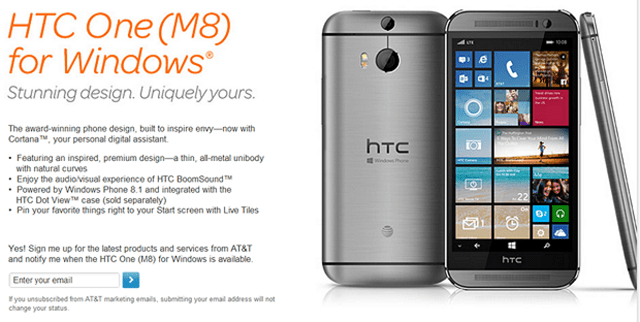 htc-one-m8-windows-att HTC One M8 For Windows To Launch On AT&T Before The End of 2014